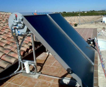 Instalacion de energía solar térmica para acs